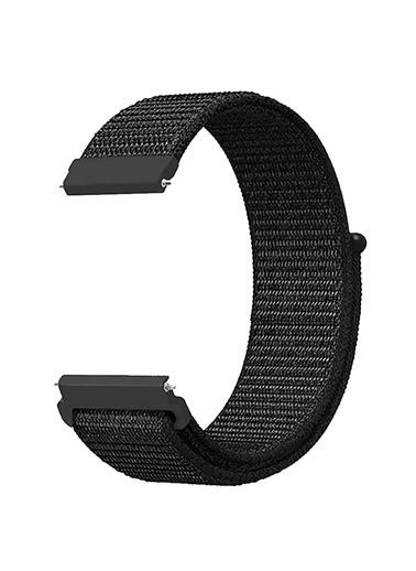 Microsonic Realme Rma207 Watch S Hasırlı Kordon Woven Sport Loop Beyaz Siyah